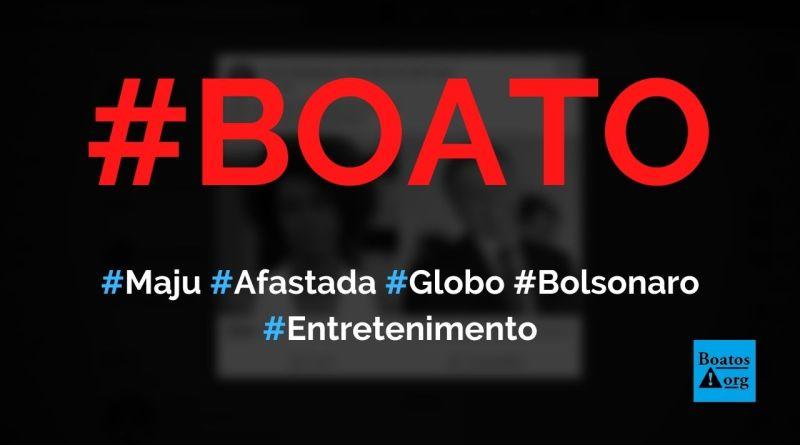 Maju Coutinho é afastada da Globo por causa de briga com Bolsonaro, diz boato (Foto: Reprodução/Facebook)