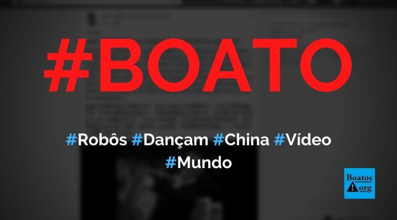 Vídeo mostra dança de robôs na Disneylândia da China, diz boato (Foto: Reprodução/Facebook)