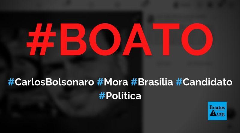 Carlos Bolsonaro mora em Brasília apesar de ser candidato no Rio de Janeiro, diz boato (Foto: Reprodução/Facebook)
