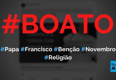 Papa Francisco convocou a todos com urgência para benção na Praça São Pedro, diz boato (Foto: Reprodução/Facebook)