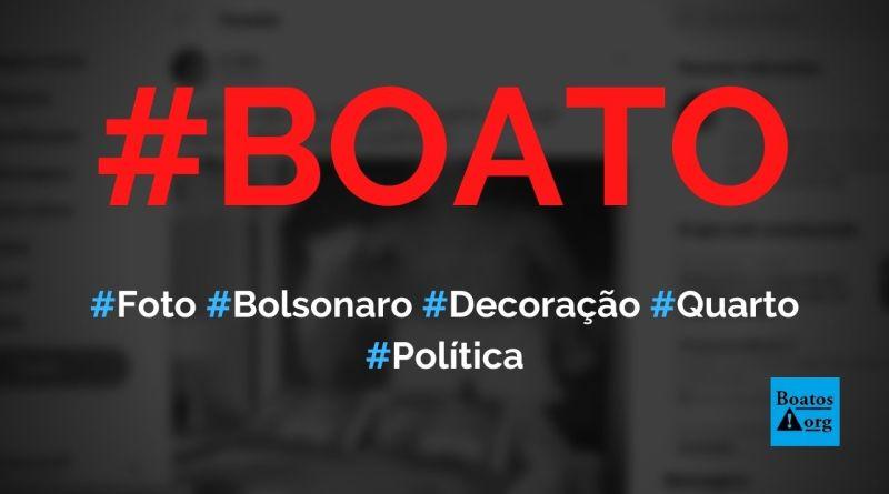 Foto de Bolsonaro sem camisa pescando é usada para decorar quarto, diz boato (Foto: Reprodução/Twitter)