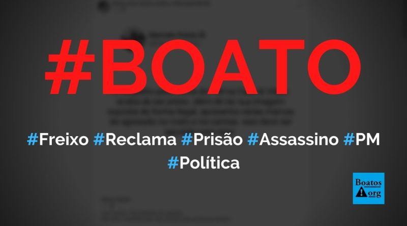 Marcelo Freixo reclama de prisão de homem que matou PM na Casa & Vídeo, diz boato (Foto: Reprodução/Facebook)