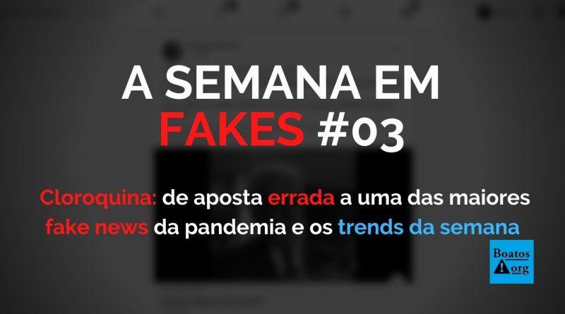 Cloroquina de aposta errada a uma das maiores fake news da pandemia