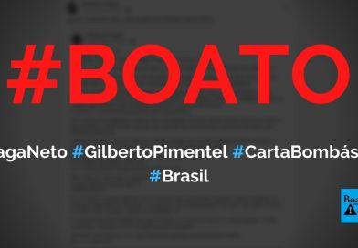 Carta bombástica dos generais Braga Netto e Gilberto Pimentel é postada no Exarnet, diz boato (Foto: Reprodução/Facebook)