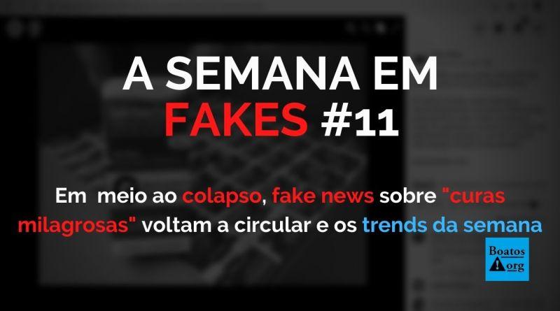 Cura da Covid-19 em meio ao colapso, fake news sobre fórmulas milagrosas voltam a circular na internet