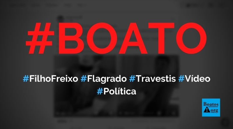 Filho de Marcelo Freixo saiu com travestis, não pagou e foi exposto em vídeo, diz boato (Foto: Reprodução/Facebook)