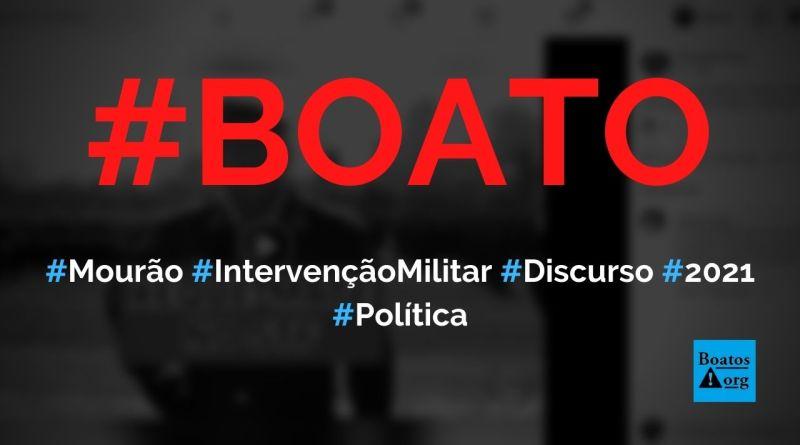 Mourão dá xeque-mate no STF ao pedir intervenção militar em discurso de 2021, diz boato (Foto: Reprodução/Facebook)