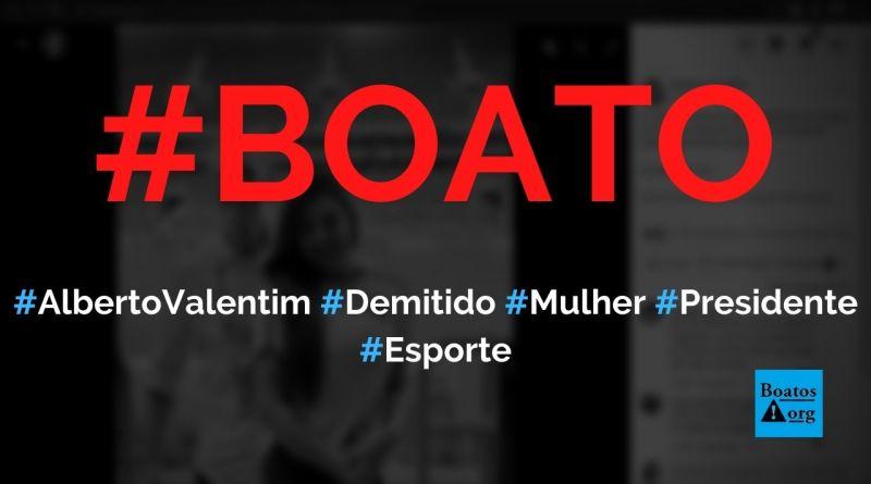 Alberto Valentim foi demitido do Cuiabá porque saiu com mulher do presidente do time, diz boato (Foto: Reprodução/Facebook)