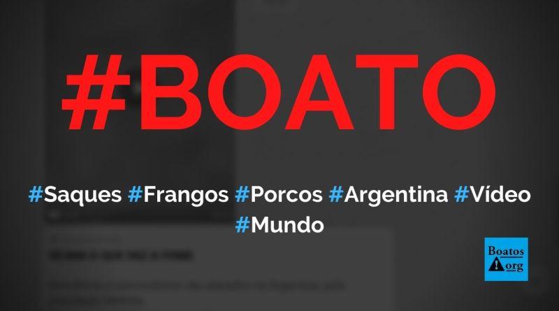 Avicultores e suinocultores são atacados pela população faminta na Argentina, diz boato (Foto: Reprodução/Facebook)