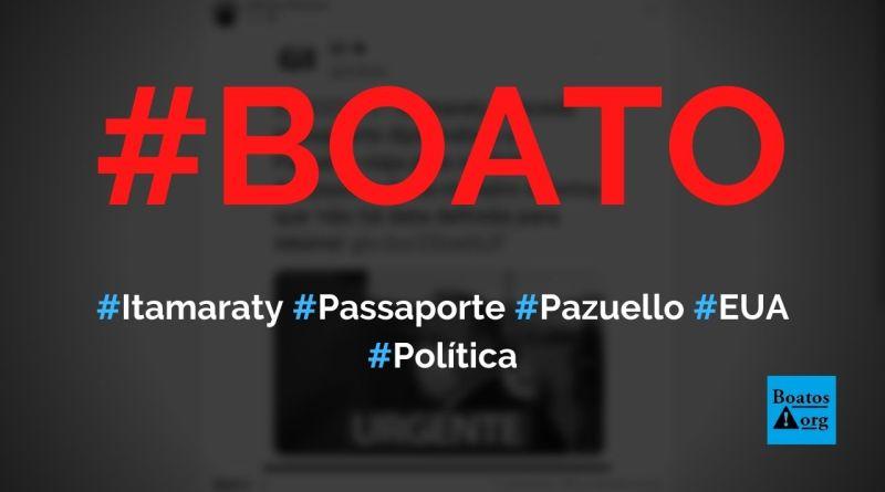 Pazuello ganha passaporte diplomático do Itamaraty e viaja para os EUA, diz boato (Foto: Reprodução/Facebook)