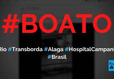 Rio transborda em Manaus e atinge hospital de campanha, mostra vídeo, diz boato (Foto: Reprodução/Facebook)