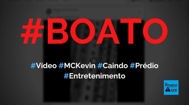 Vídeo mostra MC Kevin caindo da sacada de prédio no Rio, diz boato (Foto: Reprodução/Facebook)