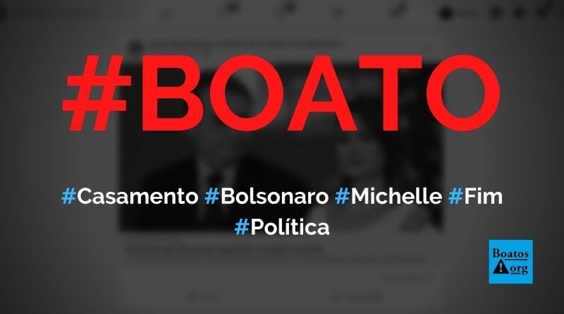 Casamento entre Jair Bolsonaro e Michelle chegou ao fim, diz boato (Foto: Reprodução/Facebook)