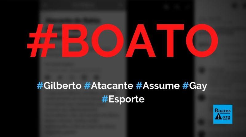 Gilberto, atacante do Bahia, assume ser homossexual, diz boato (Foto: Reprodução/Facebook)
