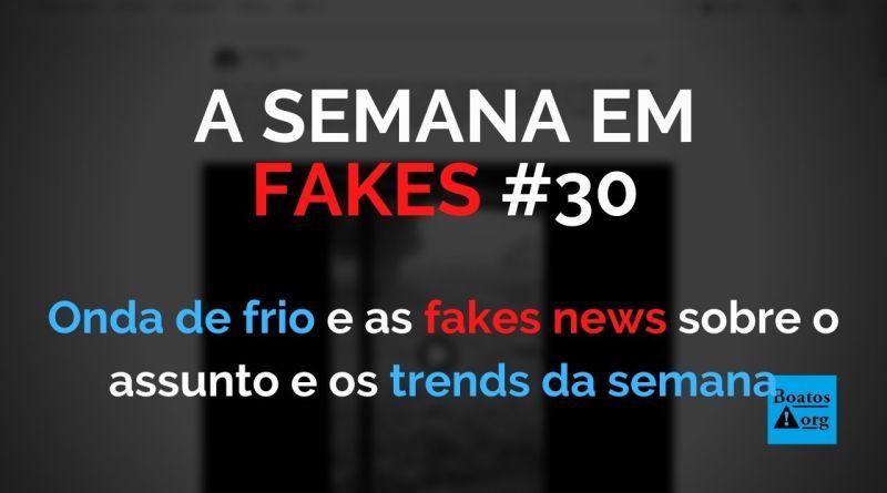 """Onda de frio """"aqueceu"""" fake news nos últimos dias (Foto: Reprodução/Facebook)"""