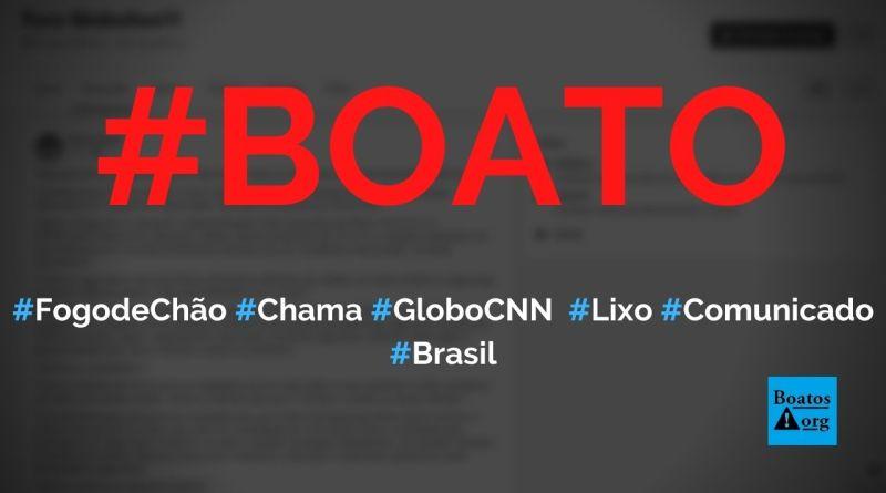 """Fogo de Chão chama Globo e CNN de """"#GloboLixo"""" e """"#CNNLixo"""" em resposta sobre """"puxadinho"""", diz boato (Foto: Reprodução/Facebook)"""