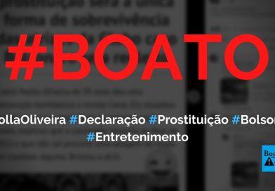 Paolla Oliveira diz que prostituição será a única forma de sobrevivência de atrizes da Globo se Bolsonaro for reeleito, diz boato (Foto: Reprodução/Facebook)