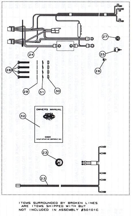 Light Wiring Diagram For Trailers Cmc Pt 130 Tilt And Trim 13001 13002 Parts S N Pt014853