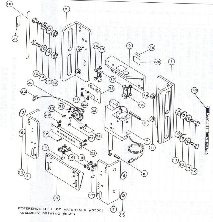 boat trim tabs wiring diagram four way switch multiple lights cmc pl-65 hs jack plate replacement parts 65301/65302
