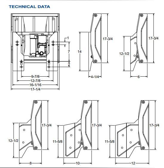 SeaStar Detwiler All-In-One Hydraulic Jack Plates D4000 Series