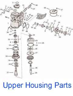 Gear housing parts drawing
