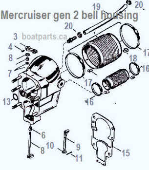 Mercruiser parts *Alpha 1 *Alpha gen 2 *Drawings