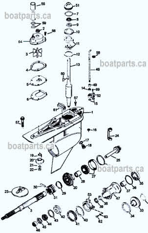 OMC parts drawing *Cobra *Mercruiser *Alpha SEI outdrives