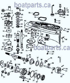 OMC Evinrude Johnson outboard parts drawings