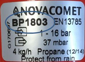 NR002 16 Clesse Regulator Recall Novacomet BP1803 Label