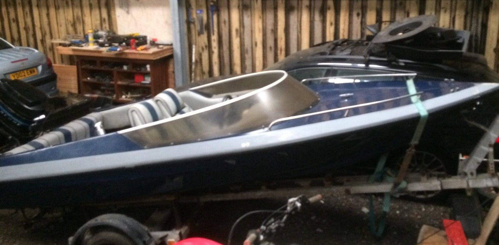 hight resolution of picton speedboat with mercury thunderbolt outboard and trailer