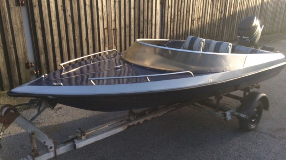 medium resolution of picton speedboat with mercury thunderbolt outboard and trailer