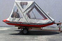 FOR 12' INFLATABLE BOAT SUN CANOPY BIMINI TOP PRIVATE ...