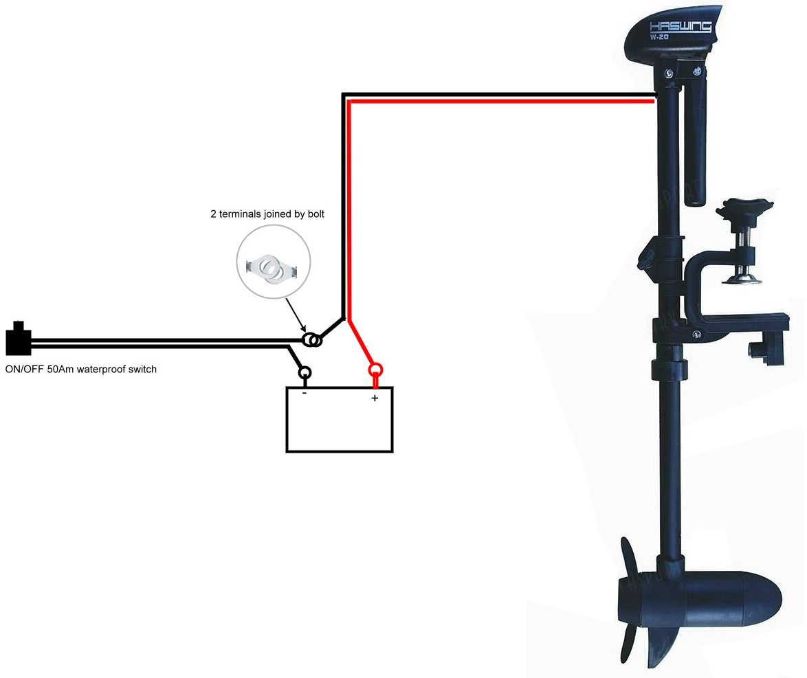hight resolution of electric trolling motor wiring diagram
