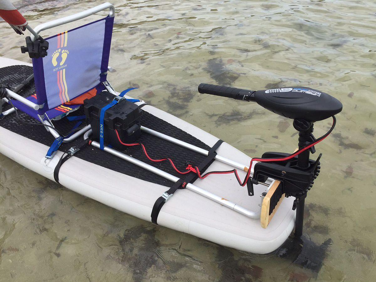 electric motor kayak 1991 gmc sonoma radio wiring diagram add trolling to stand up sup paddle board