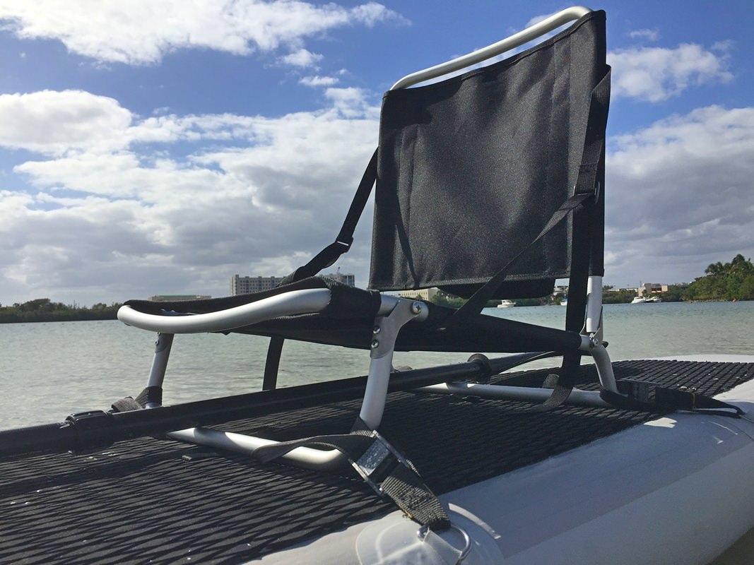 fishing chair umbrella holder white round table 6 chairs folding beach sup kayak seat