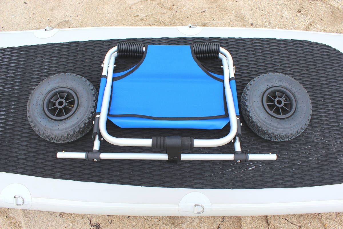 beach chair accessories high second hand sup paddle board trolley cart foldable aluminum