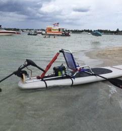 motor mount for sup or kayak  [ 1200 x 900 Pixel ]