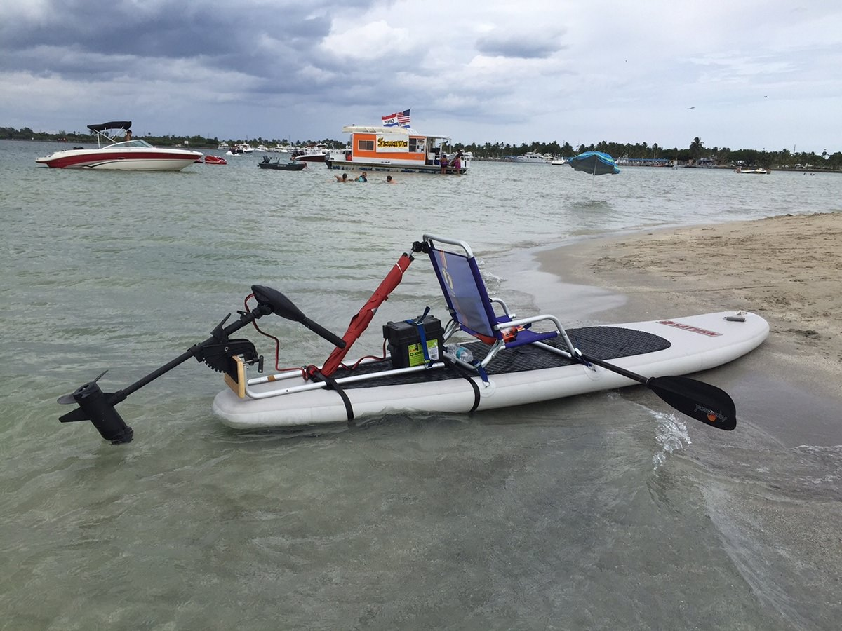 hight resolution of  motor mount for sup or kayak