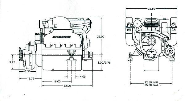 496 Mercruiser,marine Power 8.1L 496cid 450hp,rebuilt