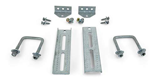2 Pack 10 Inch Boat Trailer Hot Dipped Galvanized Swivel Top Bunk Board Brackets