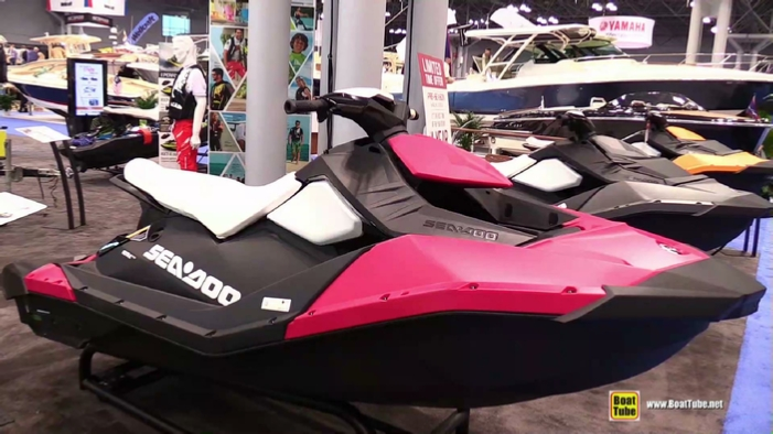 2015 Sea Doo Spark Pink Jet Ski At 2015 New York Boat Show