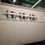 Picture of replacement port lights on Hatteras 55' Convertible