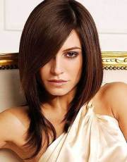 long bob brown hair