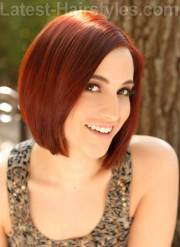 red bobs hairstyles bob
