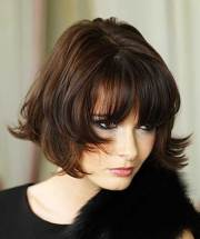 bob hairstyles with fringe