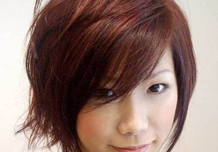 Long Dark Hairstyles For Round Faces