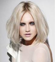 white blonde bob hairstyles