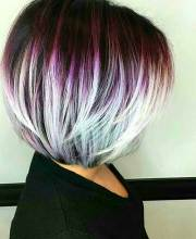 nicely colored bob hairdos