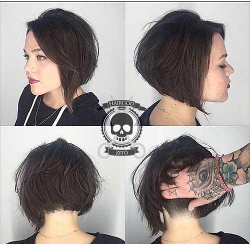 Short Highlights Grey Hair