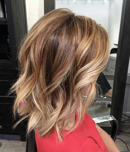 Picture Of A Messy Wavy Long Bob With Balayage Is Effortlessly Chic